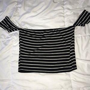 Stripe Off Shoulder Top